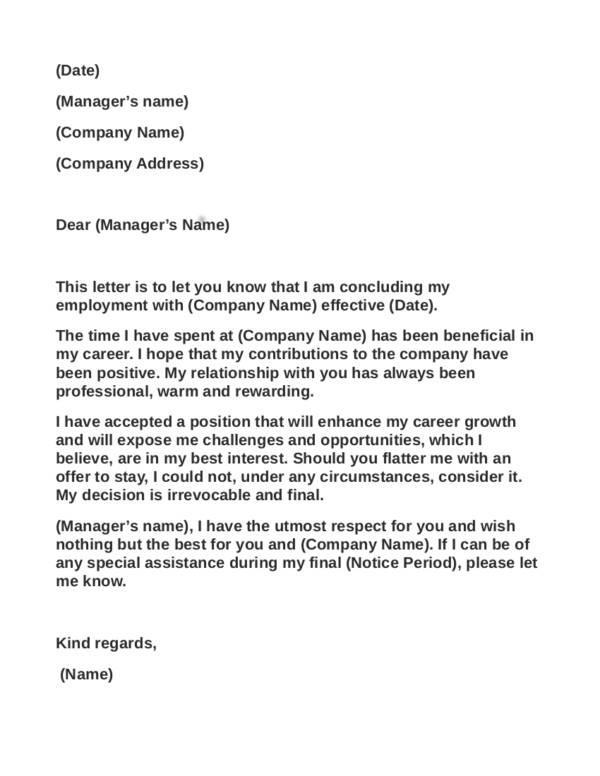 what to avoid writing resignation letter - Basilosaur