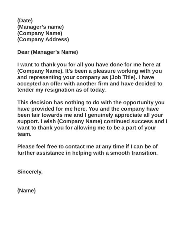 Writing a resignation letter tips samples and templates - heartfelt resignation letter