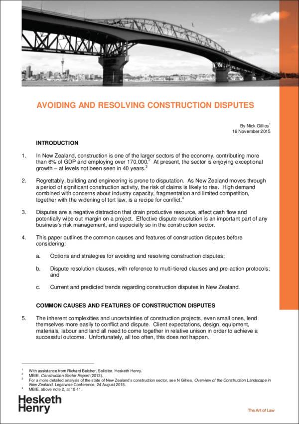 Avoiding Contract Disputes Effective Startegies Normative