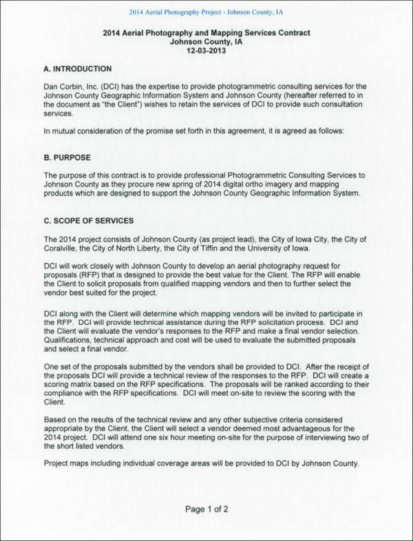 19+ Photography Contract Templates and Samples in PDF - project contract templates