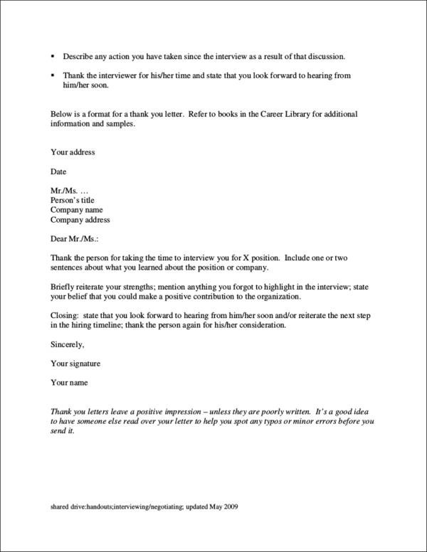 Writing Post-Interview Thank-You Letters