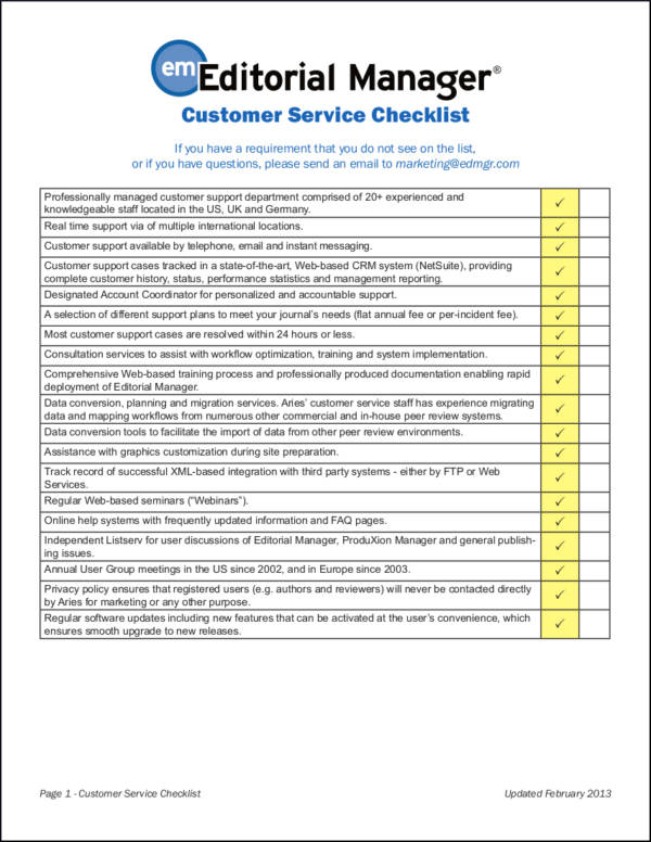 Customer Service Checklist Related Keywords  Suggestions - Customer