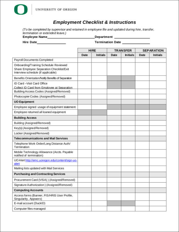 40+ Printable Checklist Samples  Templates - Free Word, PDF Format - printable checklist template