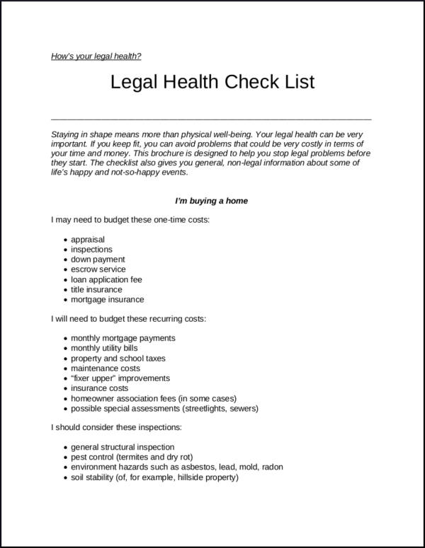 Checklists to Boost Efficiency and Reduce Mistakes Sample Templates