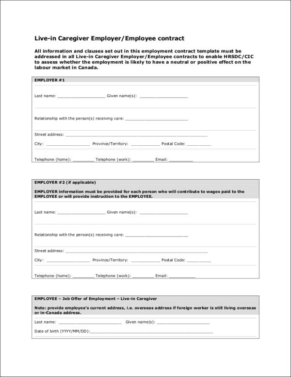 Careful Signing Employment Contract - Resume Template Sample