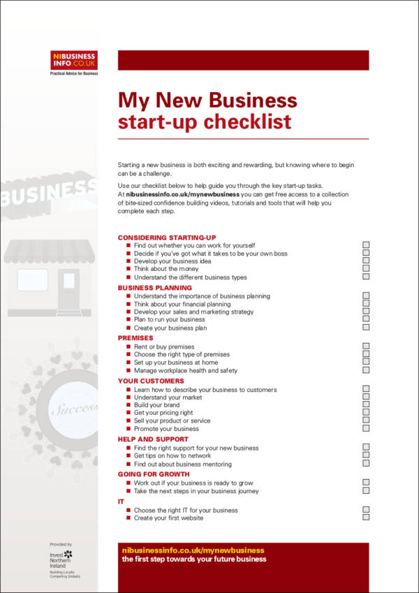 How to Create a Checklist - Free Samples in PDF - business startup checklist