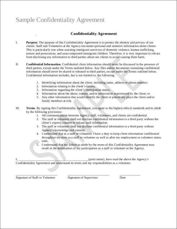 Beautiful Sample Confidentiality Agreement Gallery - Resume - effective solid business contract making tips