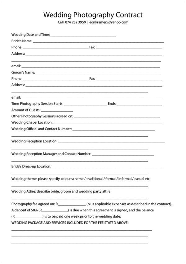 19+ Photography Contract Templates Sample Templates