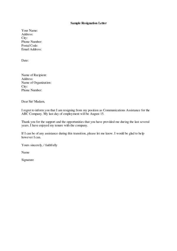 10+ Thank-You Resignation Letters and Pointers for Writing It