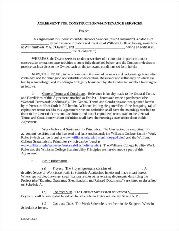 ... 9+ Maintenance Contract Templates   Free Word, PDF Format Download   Basic  Contract For ...