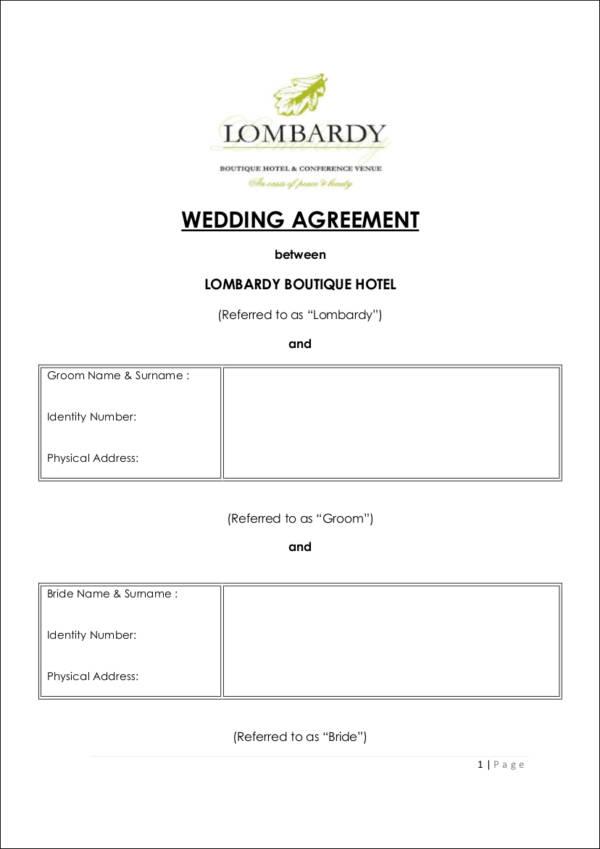 Wedding Vendor Contract Template - Eliolera - wedding contract template