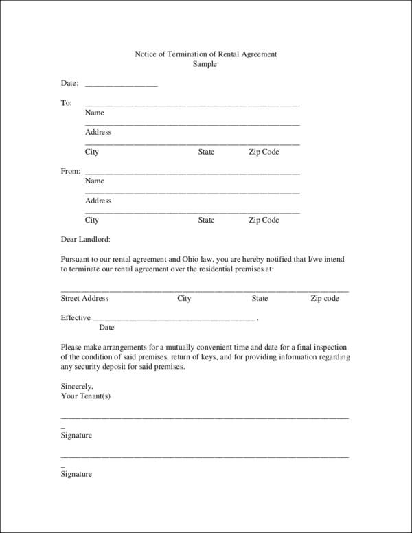 9+ Termination Contract Templates - Free Word, PDF Format Download - termination contract sample