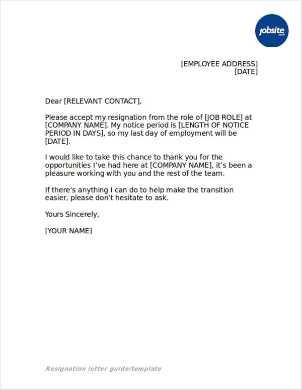 43+ Resignation Letters in Doc - Free Word Format Download