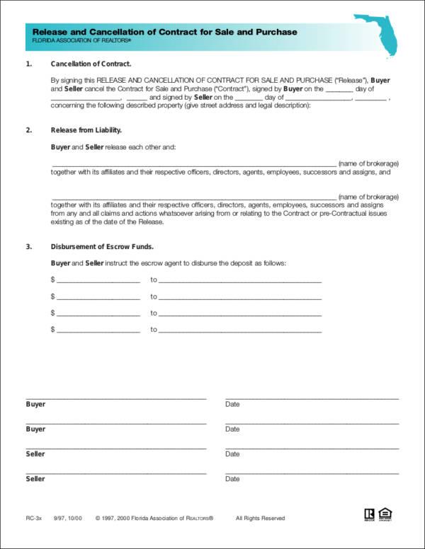 10 Termination Contract Samples  Templates Sample Templates