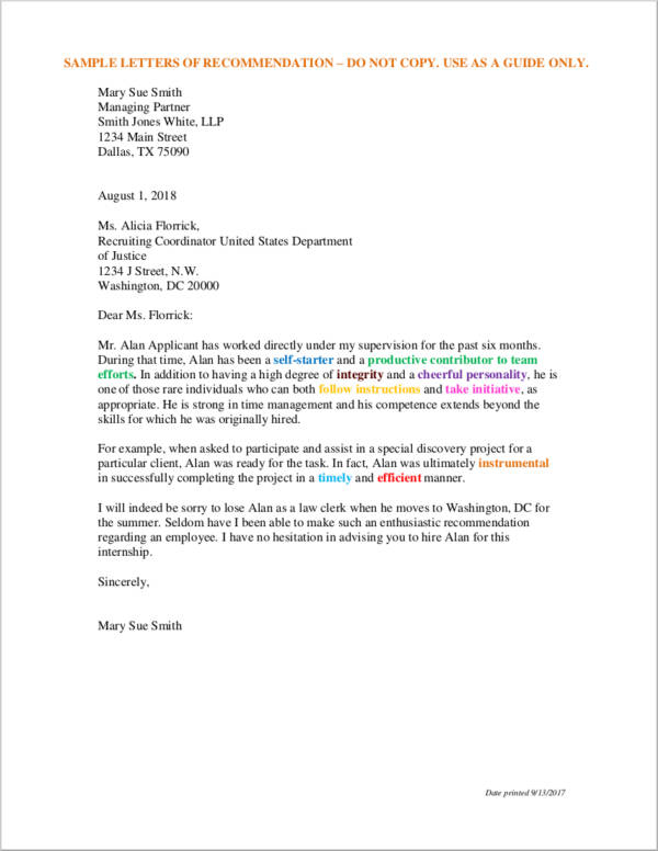 10+ Sample Letters of Recommendation for Employment - Free Word, PDF