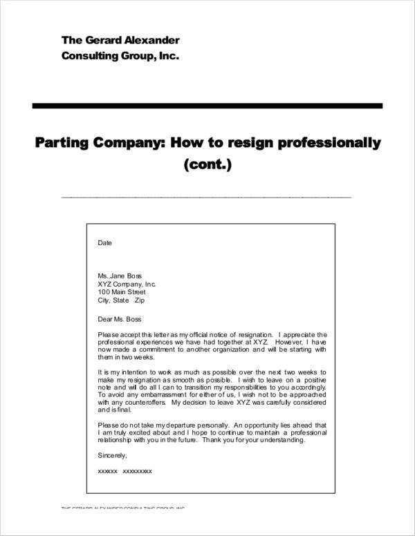39 resignation letter templates free word pdf format download what to avoid writing