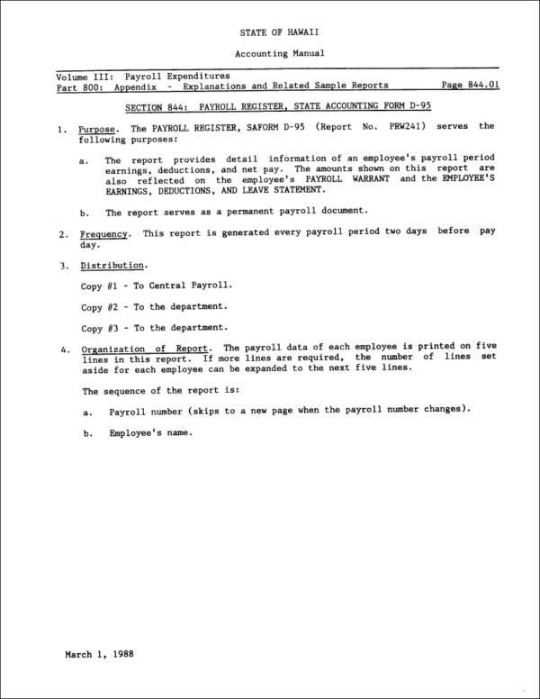 25+ Payroll Samples  Templates in PDF - Free PDF Format Download