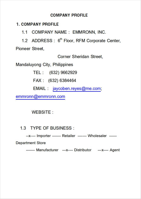 Company Profile Templates Samples in Word Project - oukasinfo - company profile template word format