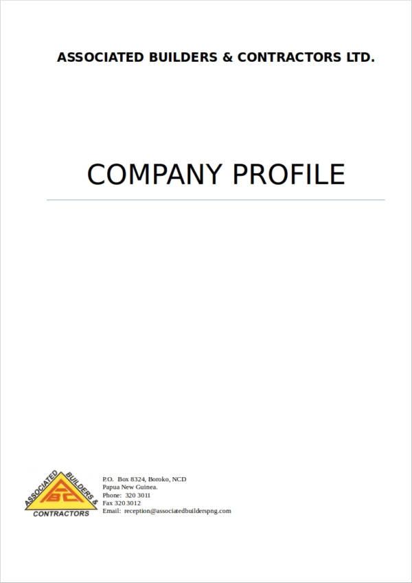 18+ Simple Company Profile Templates - DOC