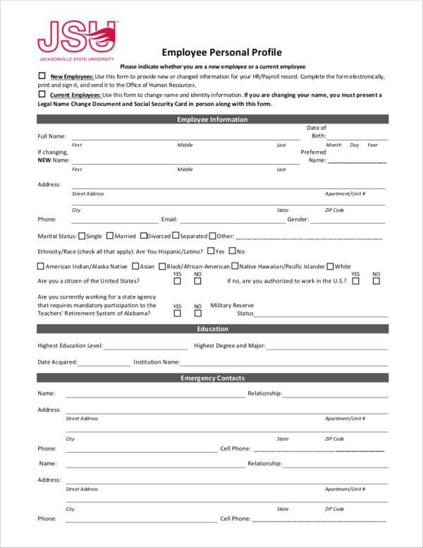 11+ Personal Profile Samples - PDF, DOC