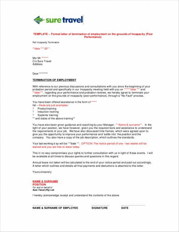 formal termination letter - Artij-plus