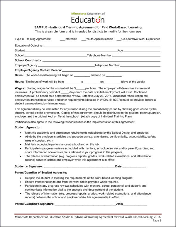 14+ Training Contract Samples  Templates - Free Samples in PDF and Word