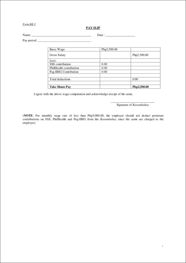 26 Payroll Samples  Templates in PDF Sample Templates - Payroll Payslip Template