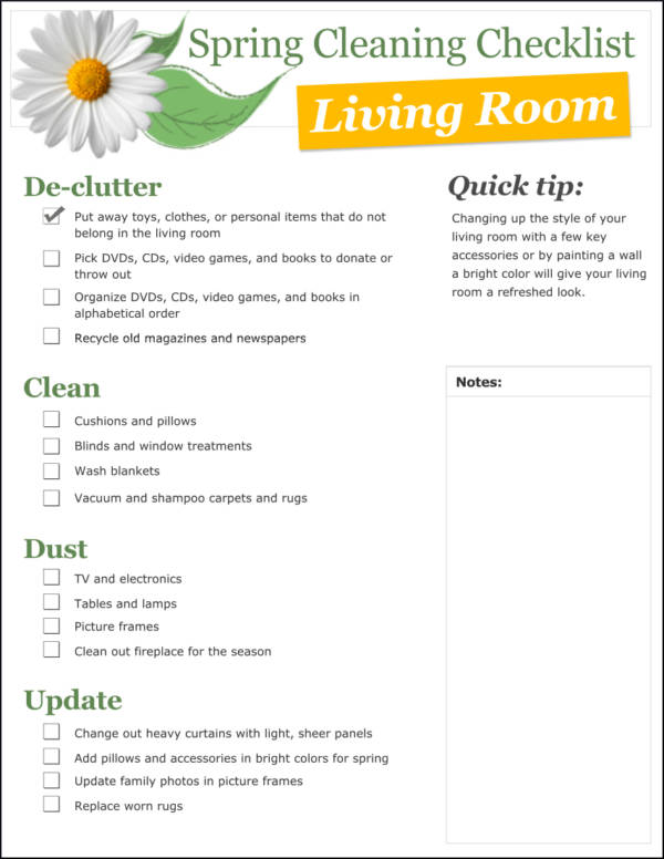 Funky Sample Spring Cleaning Checklist Pictures - Resume Ideas - Sample Spring Cleaning Checklist
