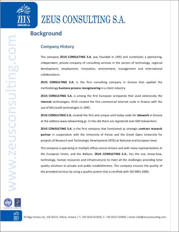 29+ Company Profile Samples  Templates in PDF - Free PDF Format