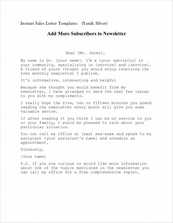 12+ Sales Introduction Letter Samples  Templates - Free Word, PDF