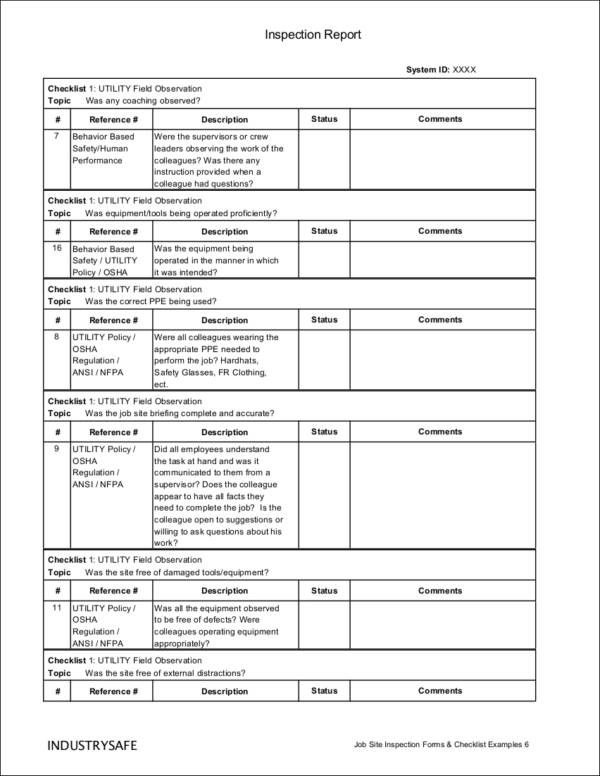 Perfect ... Daily Checklist Sample Daily Inspection Checklist For Utility   Daily  Checklist Sample ...