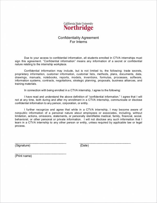 21+ Confidentiality Agreement Samples  Templates - PDF, Word