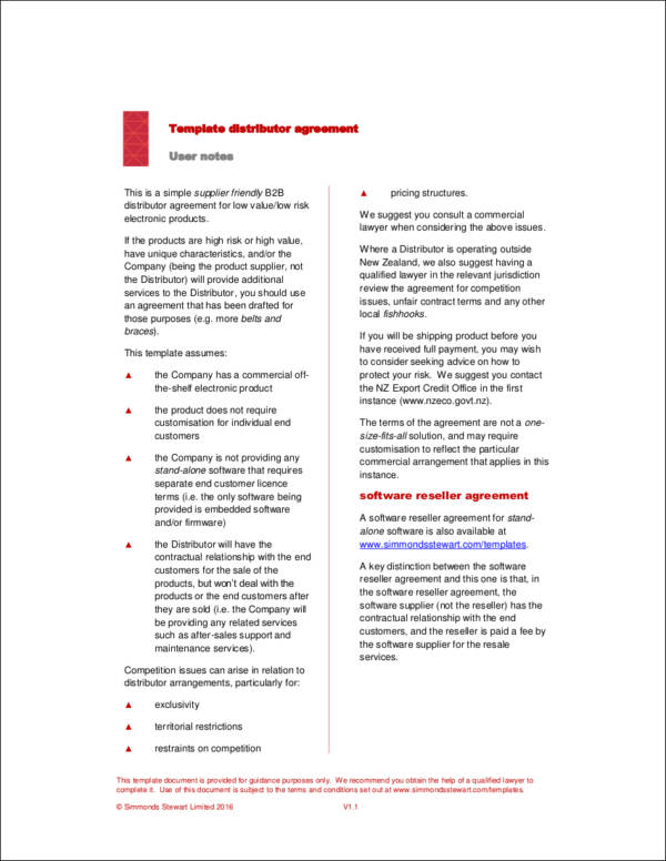 Distribution Agreement Template Image collections - Template Design - reseller agreement template