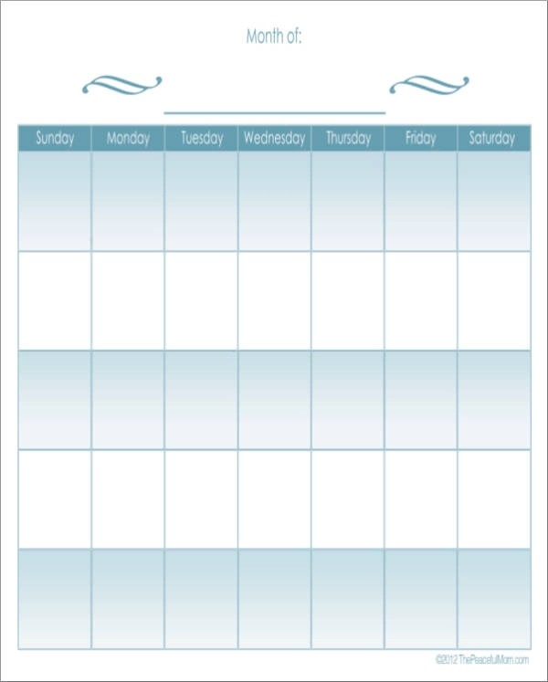 15+ Monthly Planner Samples  Templates - Free Word, PDF, Excel Format