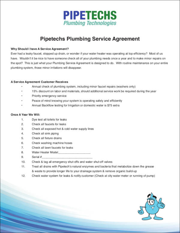 10+ Plumbing Contract Samples and Templates - PDF