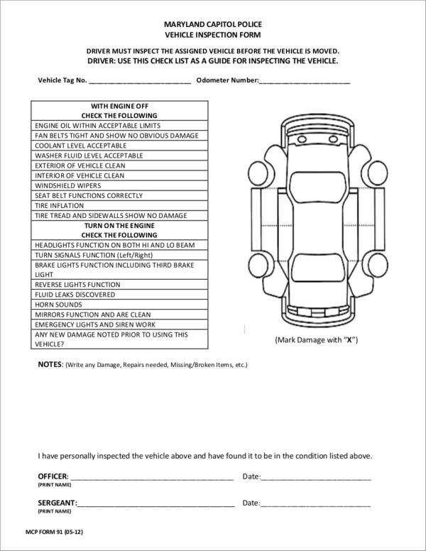 20+ Vehicle Checklist Samples  Templates - PDF, Word Format