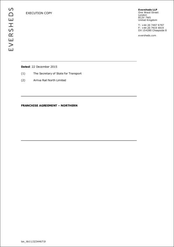 5 Franchise Agreement Samples  Templates Sample Templates - sample franchise agreement