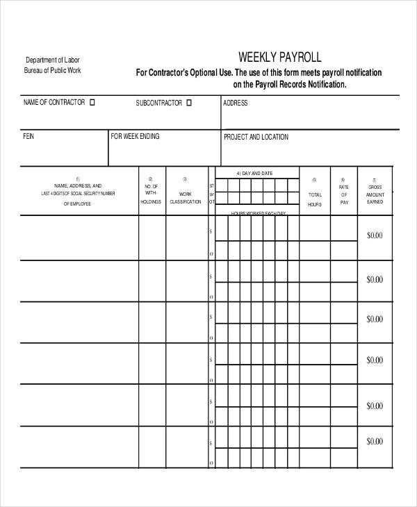 14+ Employee Payroll Samples  Templates - PDF, Word, Excel