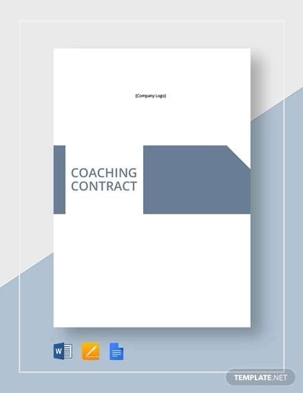 9+ Coaching Contract Sample Templates - Pages, Word, Docs