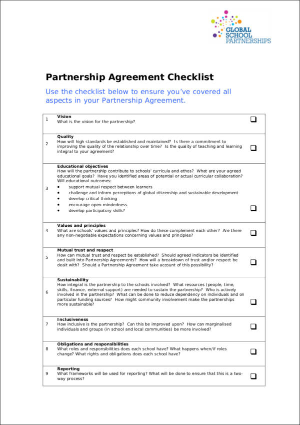 What Is A Partnership Agreement Choice Image - Agreement Letter Format