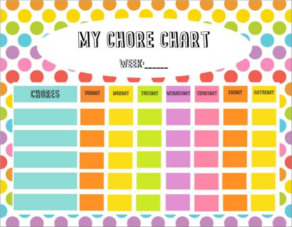 8+ Kid\u0027s Chore Schedule Templates - PDF