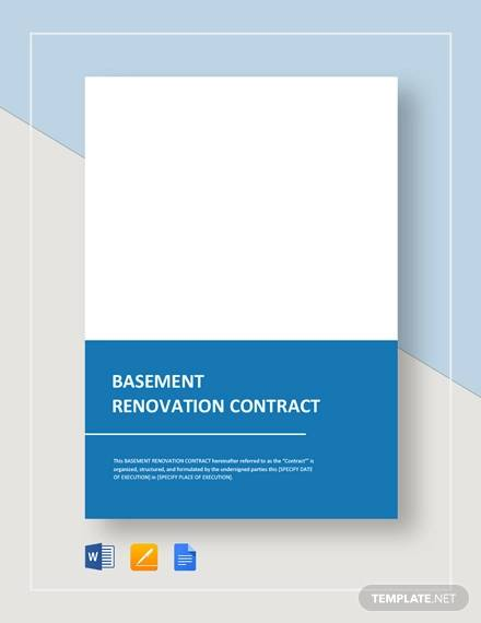 13+ Renovation Contract Templates - Docs, Pages, Word
