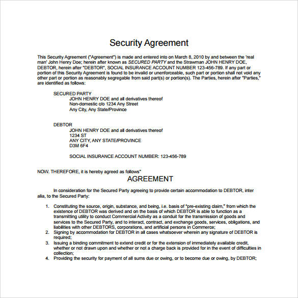 9+ Security Contract Samples and Templates \u2013 PDF, Word Sample
