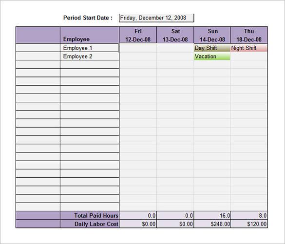 50+ Schedule Templates \u2013 PDF, Word, Excel Sample Templates - vacation schedule template