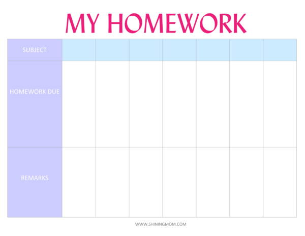 9+ Homework Planner Samples and Templates - PDF, Word