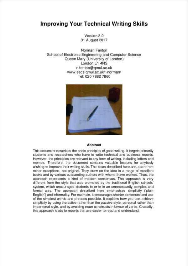 13+ Technical Writing Samples and Templates - PDF