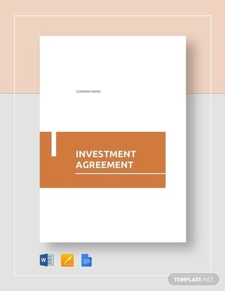 Sample Investment Agreement - 15+ Examples in Word, PDF