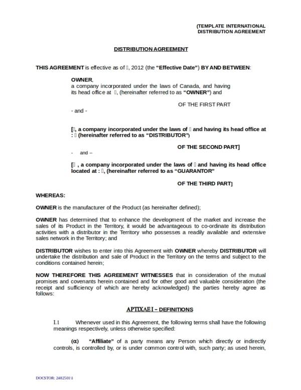 13+ OEM Distribution and License Agreement Samples  Templates \u2013 PDF