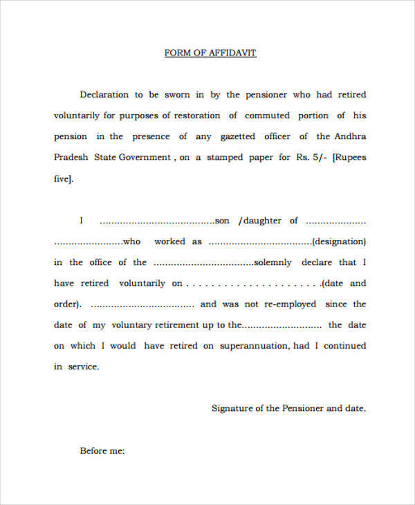 19+ General Affidavit Samples and Templates - PDF