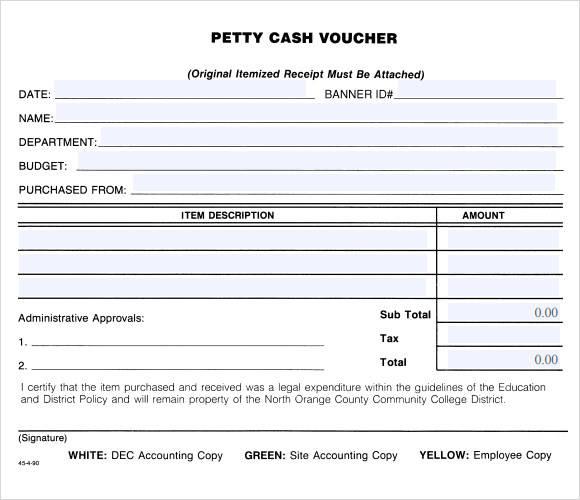 14+ Petty Cash Receipt Samples  Templates \u2013 PDF, Word, Excel
